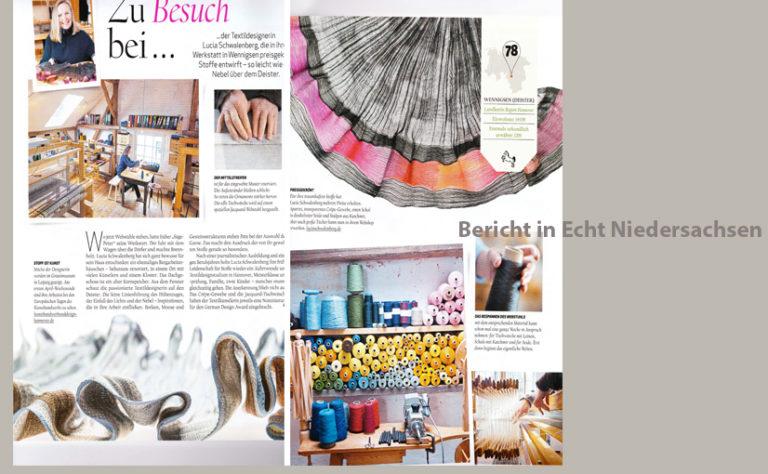 Bericht über Lucia Schwalenberg in Magazin Echt Niedersachsen