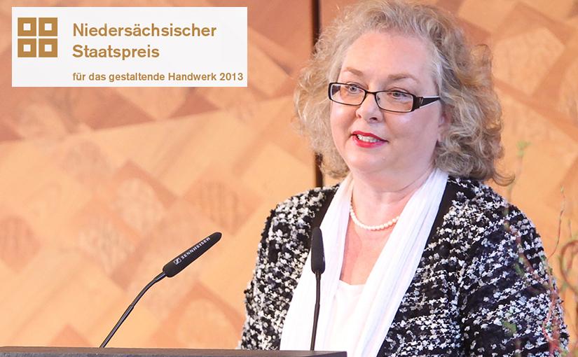 Dr. Sabine Wilp zur Staatspreisverleihung